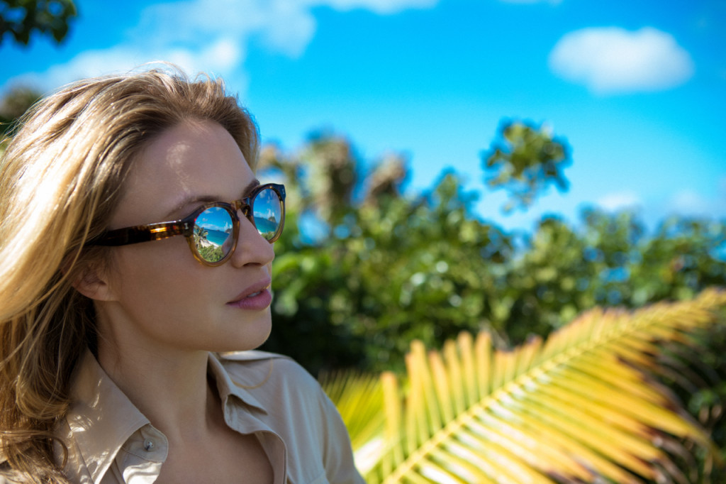 Safari Jumpsuit with illesteva Sunglasses